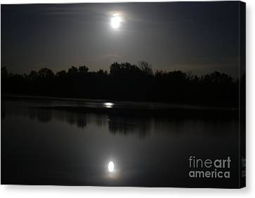 Late Night At The Lake Canvas Print by Mark McReynolds