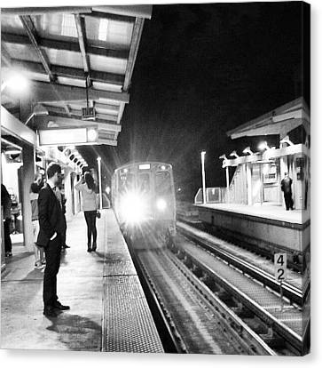 Light Canvas Print - Late Night On The Red Line by Jill Tuinier