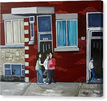 Late Saturday Afternoon Canvas Print by Reb Frost