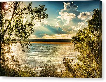 Late Summer Afternoon On The Mississippi Canvas Print by Jon Woodhams
