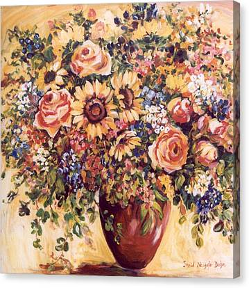 Late Summer Bouquet Canvas Print by Alexandra Maria Ethlyn Cheshire
