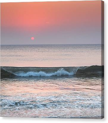 Late Summer Sunrise Square Canvas Print by Bill Wakeley