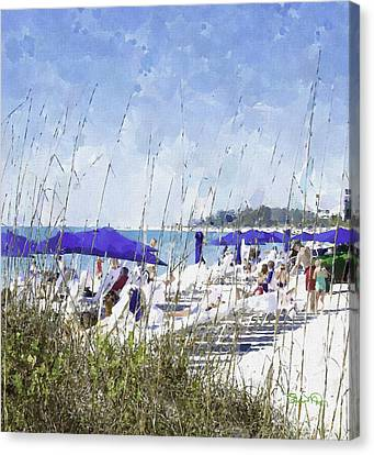 Late Winter Early Spring When Everybody Goes To Florida Canvas Print by Susan Molnar