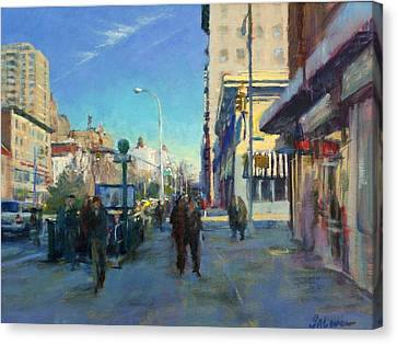 Late Winter Morning On Broadway Canvas Print