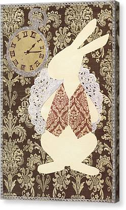 March Hare Canvas Print - Late? With The White Rabbit by Savannah Bertozzi