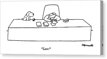 Later Canvas Print by Charles Barsotti