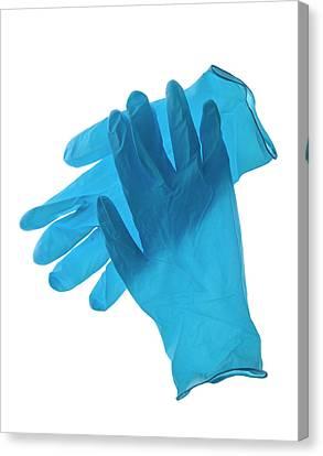 Latex Gloves Canvas Print