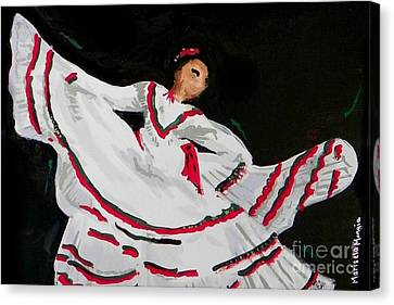 Canvas Print featuring the painting Latin Dancer by Marisela Mungia