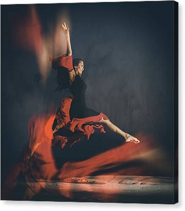 Dance Canvas Print - Latin Dancer by Stelios Kleanthous