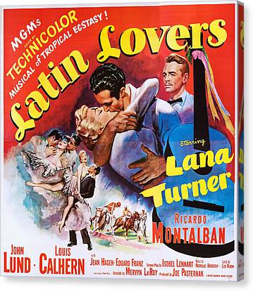 Latin Lovers, Us Poster Art Canvas Print by Everett