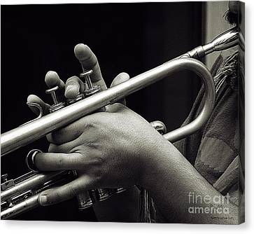 Canvas Print featuring the photograph Latin Trumpet by Pedro L Gili
