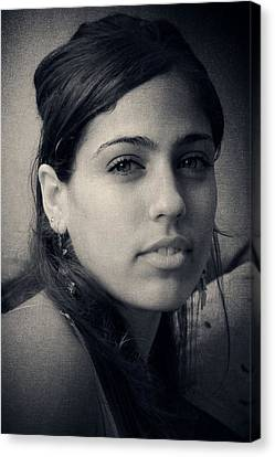 Canvas Print featuring the photograph Latina Beauty by Zinvolle Art