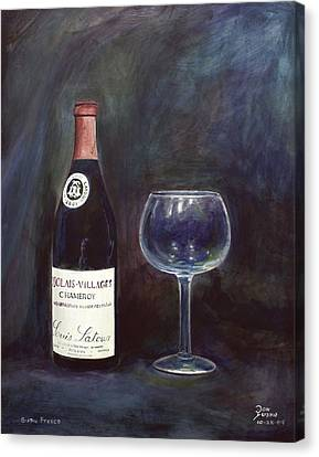 Latour Wine Buon Fresco 3 Primary Pigments Canvas Print by Don Jusko