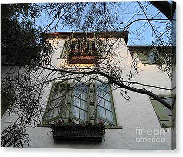 L'auberge Facade Canvas Print by James B Toy