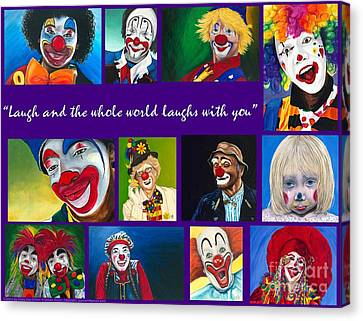 Laugh And The Whole World Laughs With You Canvas Print