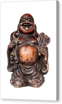 Folkloric Canvas Print - Laughing Buddha by Fabrizio Troiani