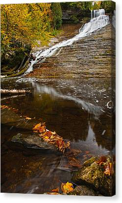 Laughing Whitefish Falls Canvas Print by James Marvin Phelps