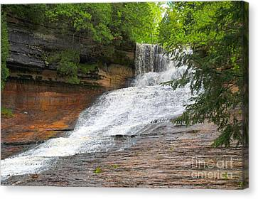Canvas Print featuring the photograph Laughing Whitefish Waterfall by Terri Gostola