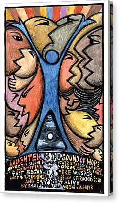 Seed Canvas Print - Laughter Is The Sound Of Hope by Ricardo Levins Morales