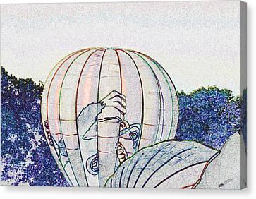 Launching King Kong - Sketch Canvas Print