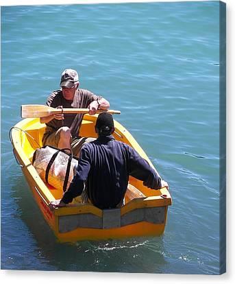Launching The Titanic New Zealand Canvas Print by Sandra Sengstock-Miller