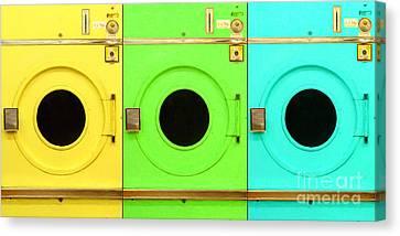 Laundromat Drying Machines Three 20130801 Canvas Print