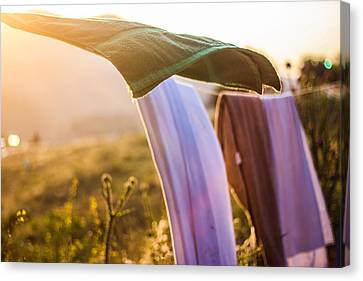 Laundry Canvas Print by Aiden Kashi