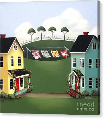 Laundry Between Friends Canvas Print by Catherine Holman