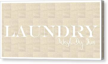 Laundry Canvas Print - Laundry Burlap by Pamela J.  Wingard