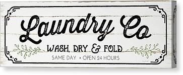 Laundry Canvas Print - Laundry Co by Jennifer Pugh