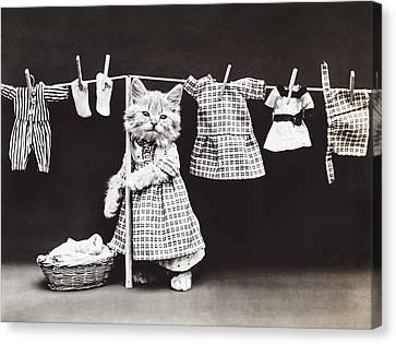 Clothesline Canvas Print - Laundry Day by Aged Pixel