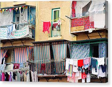 Canvas Print featuring the photograph Laundry Day by Cassandra Buckley