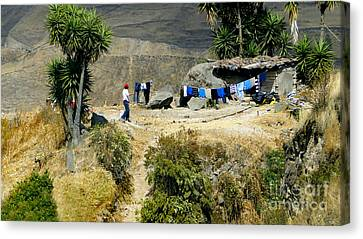 Laundry Day High In The Andes Canvas Print