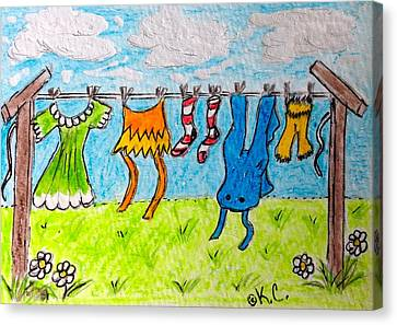 Laundry Day Canvas Print by Kathy Marrs Chandler