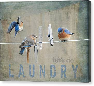 Laundry Day - Lets Do Laundry Canvas Print by Jai Johnson