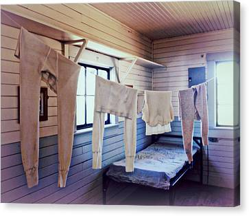 Canvas Print featuring the photograph Laundry Day by Micki Findlay