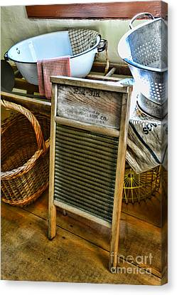 Laundry Mat Canvas Print - Laundry Day by Paul Ward