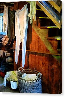 Clothes Line Canvas Print - Laundry Day by Susan Savad