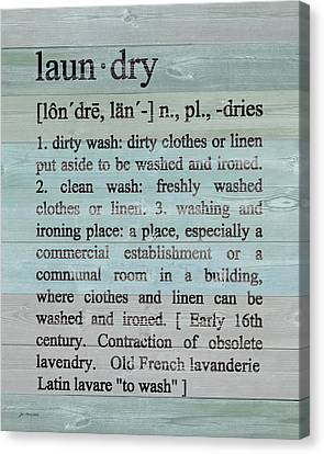 Laundry Defined Canvas Print