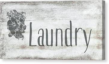 Laundry Canvas Print - Laundry Floral by Ramona Murdock