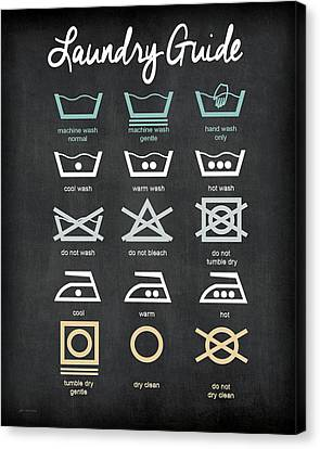 Laundry Canvas Print - Laundry Guide by Jo Moulton