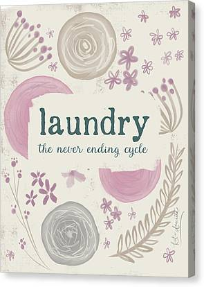 Laundry Canvas Print - Laundry IIi by Katie Doucette