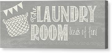 Laundry Canvas Print - Laundry Room II by Jo Moulton
