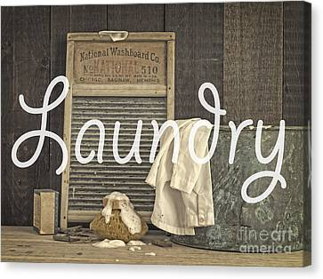 Laundry Room Sign Canvas Print by Edward Fielding