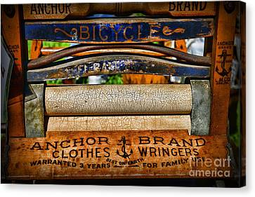 Laundry The Clothes Wringer Canvas Print by Paul Ward