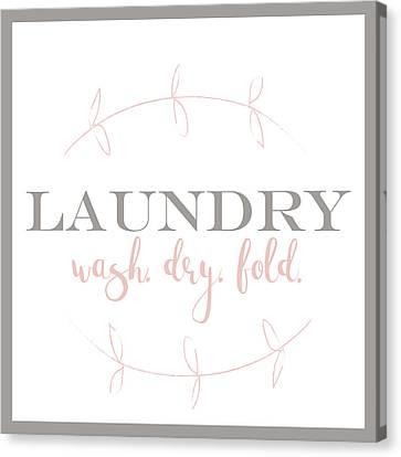 Laundry Canvas Print - Laundry Vine by Pamela J.  Wingard