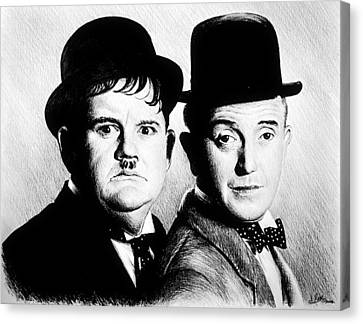 Laurel And Hardy Another Fine Mess Canvas Print