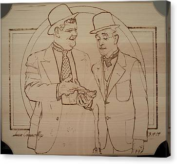 Laurel And Hardy - Thicker Than Water Canvas Print