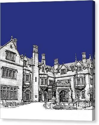 Laurel Hall In Royal Blue Canvas Print by Adendorff Design