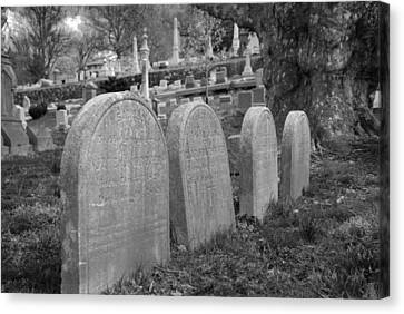 Laurel Hill Headstones Canvas Print by Jennifer Ancker